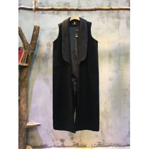 Ladylike Wide Lapel Sleeveless Designer Coat Long Womans Tailored Waistcoat