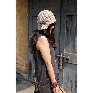 Girlish Bowknot Knit Hat Fitted Hat Online