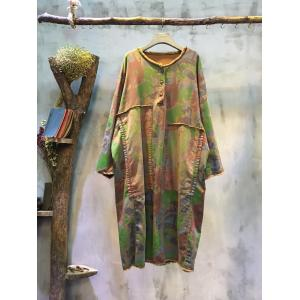 2016 Raw Hem Colorful Camouflage Dress Patchwork Cotton Fashion Dress