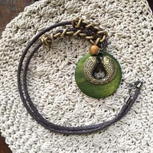 Chinese Style Fish Bronze Long Necklace Womans Cheap Necklace