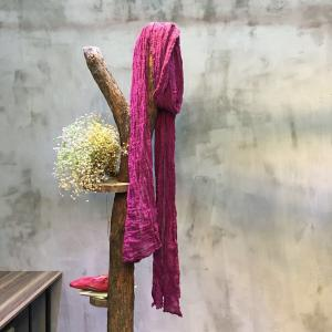 Solid Color Pleated Linen Winter Scarf Cheap Ladies Scarf