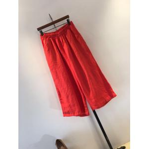 New Arrival Plain Linen Wide-leg Pants Comfortable Womans Pants