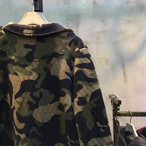 Front Pockets Embossing Thickening Camouflage Coat Wide Lapel Winter Coat