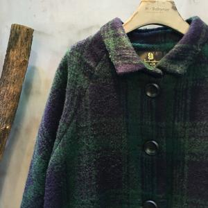 British Style Front Pockets Plaid Coat Winter Long Coat