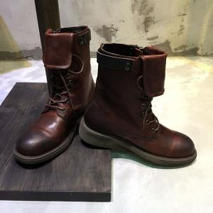 Individual Side Zip Cowhide Boots Lace Up Revers Martin Boots