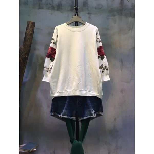 New Arrival Beautiful Rose Embroidery Plain Hoodie Organic Cotton Clothing