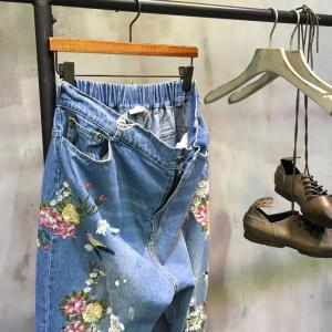 Fashion Flowers Embroidered Jeans Designers Ripped Jeans