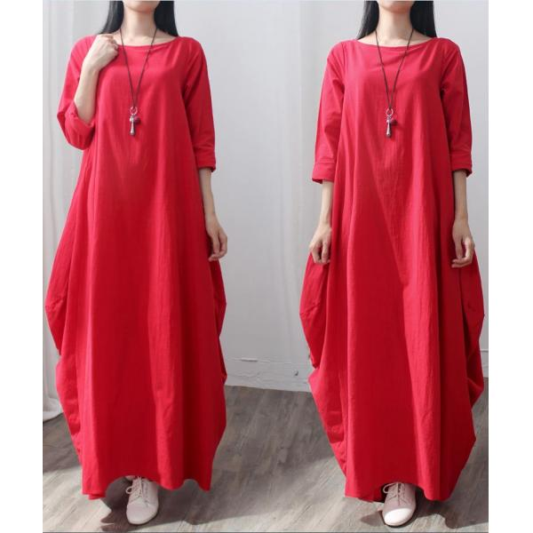 Holiday Style Linen Plus Size Dress Elegant Maxi Swing Dress ...