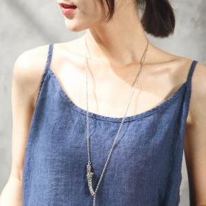 All-Match Chinese Buttons Linen Cami Top Casual Summer Clothes