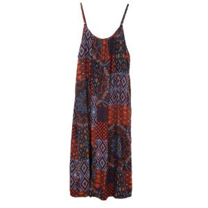 Summer Fashion Folk Prints Loose Boho Dress Holiday Slip Dress