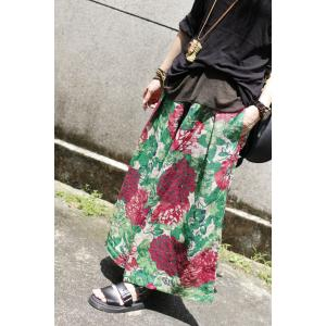 Beautiful Prints Wide Leg Pants Womans  Linen Baggy Trousers