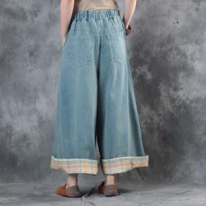 High-Quality Cuckoo Embroidery Vintage Jeans Wide Leg Baggy Trousers