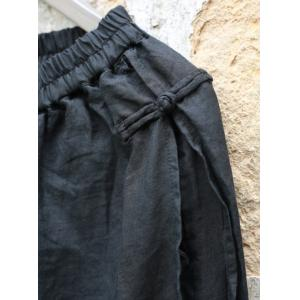 Solid Color Chinese Buttons Linen Pantskirt Autumn Layering Culottes