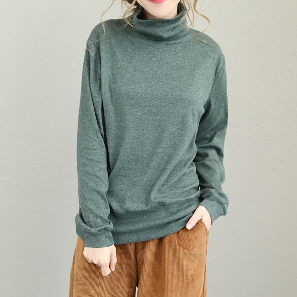 Must-Have Turtle Neck Casual T-shirt Brushed Cotton Base Shirt