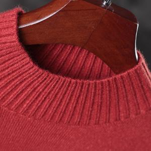 Comfortable Angora Red Sweater Womans Oversized Turtleneck Sweater