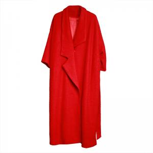 Best-Selling Drawstring Waist Red Overcoat Womans Designer Tweed ...