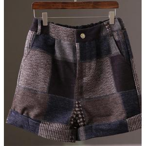 Street Fashion Vintage Plaid Short Pants Girlish Vintage Shorts