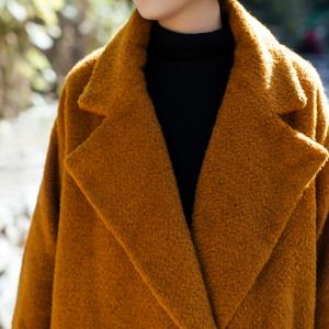 Latest Fashion Thick Wool Coat Womans Customized Winter Coat
