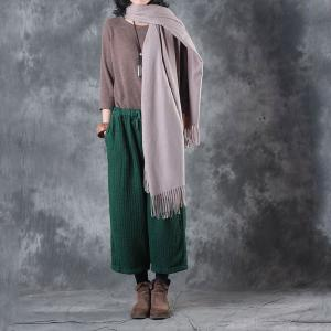 Solid Color Long Tassel Scarf Womans Elegant Scarf