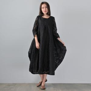 High-Quality Jacquard Flare Dress Plus Size Boutique Dress
