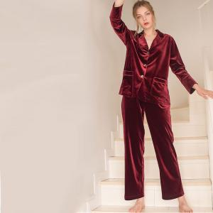 High-Quality Wide Lapel Pleuche Loungewear with Plain Baggy Pants