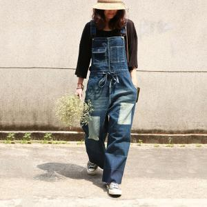Drawstring Waist Fashion Denim Overalls Wide Leg Jeans Jumpsuits