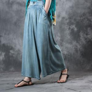 Street Fashion Soft Wide Leg Jeans Womans Palazzo Jeans