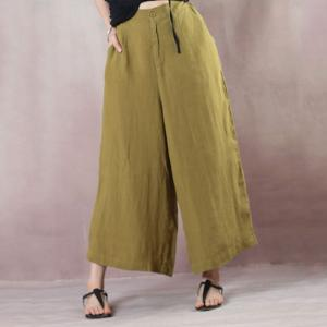 Summer Fashion Linen Baggy Pants Womans Loose Trousers