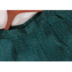 Silk Satin Plus Size Long Blouse with Green Palazzo Pants