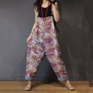 Pregnancy Fashion Printing Casual Jumpsuits Cotton Long Rompers