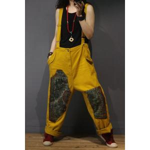 Individual Fashion Patchwork Plus Size Jumpsuits Casual Womans Jumper Overalls