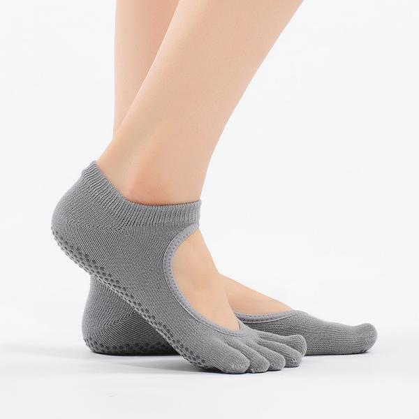 Open Instep Womans Toe Socks Anti-Skid Ballet Socks