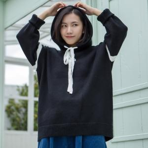 Sports Style Loose Korean Hoodie Fashion Pullover Hoodie for Woman