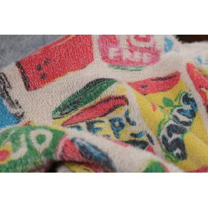 Artistic Printed Colorful Sweater Loose Soft Pullover for Woman