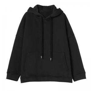 Street Style Cotton Casual Hoodie Plain Oversized Cute Hoodie for Woman