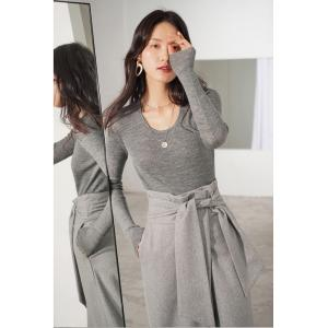 Empire Waist Gray Wide Leg Pants Wool Belted Designer Trousers