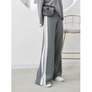 Sporty Style Side Striped Pants Casual Yoga Slack Pants