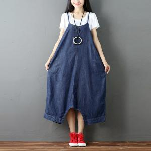 Large Size Denim Fisherman Pants Womans Fashion Culottes