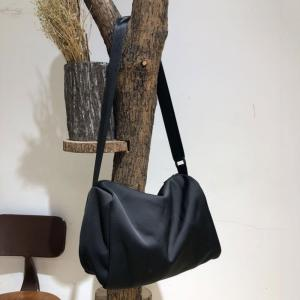 Korean Style Black Barrel Bag Casual  Shoulder Bag
