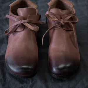 British Style Vintage Short Boots Soft