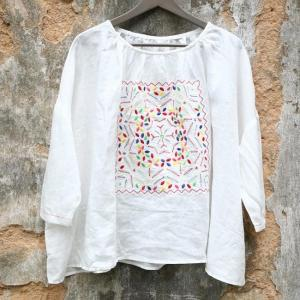 Japanese Style Embroidered White Shirt Loose Spring Designer Blouse