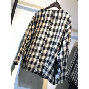 British Fashion Plaids Shirt Jackets Linen Oversized Blouse