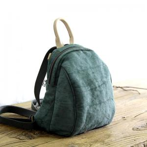 Korean Style Cotton Linen Handbag Small Backpack for Woman