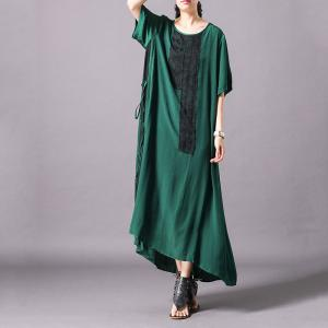 710202bd061 Button Down Vintage Qipao Cotton Linen Chinese Shirt Outerwear.  US 99.99US 108.99. Black Patchwork Sashes Short Sleeve Dress Comfy Silk  Casual Dress