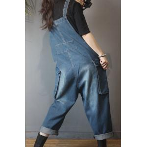 Korean Fashion Plus Size Ripped Dungarees 90s Overalls for Woman
