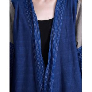 Solid Color Organic Linen Resort Wear Long Sleeve Loose Kimono Coat