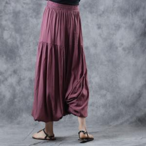 Comfy Style Cotton Thai Pants Long Balloon Trousers for Woman