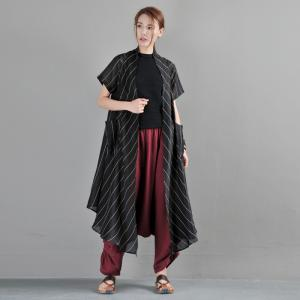Cotton Linen Drawstring Pants Loose Thai Pants for Women