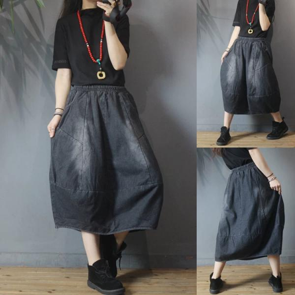 Colored Faded Flare Maxi Skirt
