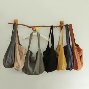 Easy-Wear Casual Minimalist Bag Cotton Plain Tote Bag